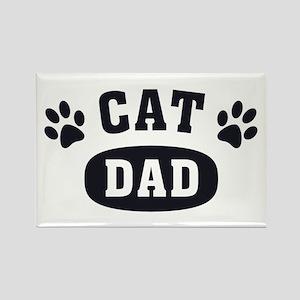Cat Dad [b/w] Rectangle Magnet